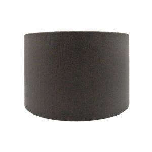 Slate Grey Velvet Drum Lampshade