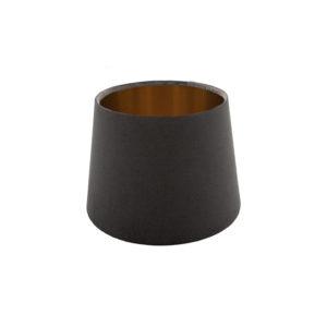 Voyage Slate Grey Velvet French Drum Lampshade Brushed Copper Inner