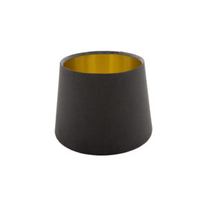 Voyage Slate Grey Velvet French Drum Lampshade Brushed Gold Inner