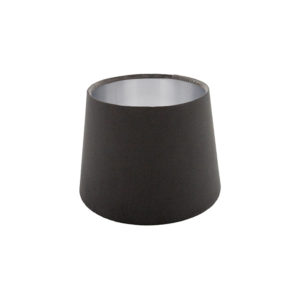 Voyage Slate Grey Velvet French Drum Lampshade Brushed Silver Inner