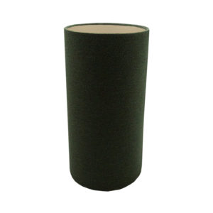 Toad Green Herringbone Tall Drum Lampshade Champagne Inner