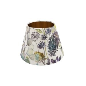 Voyage Hedgerow Blue Empire Lampshade Copper Inner