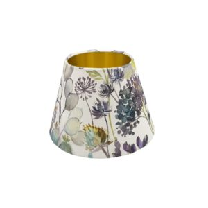 Voyage Hedgerow Blue Empire Lampshade Gold Inner