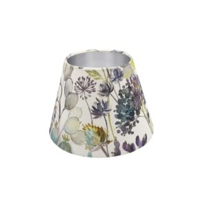 Voyage Hedgerow Blue Empire Lampshade Silver Inner