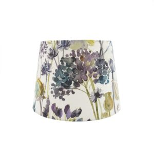 Voyage Hedgerow Blue French Drum Lampshade