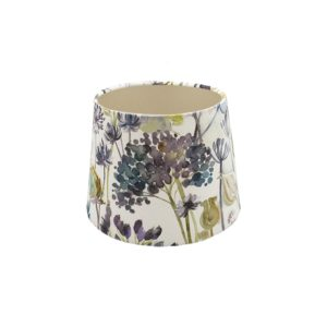 Voyage Hedgerow Blue French Drum Lampshade Champagne Inner