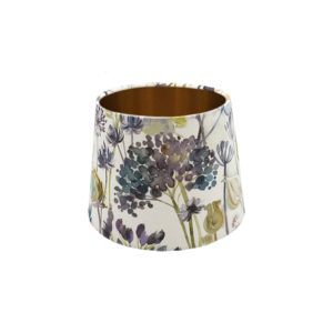 Voyage Hedgerow Blue French Drum Lampshade Copper Inner