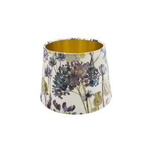 Voyage Hedgerow Blue French Drum Lampshade Gold Inner