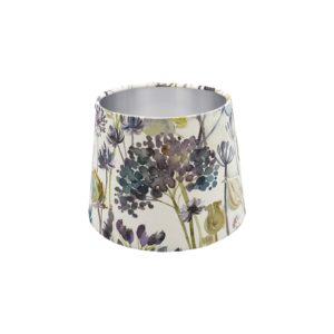 Voyage Hedgerow Blue French Drum Lampshade Silver Inner