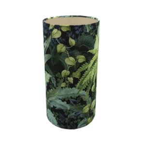 Botanical Tall Drum Lampshade Champagne Inner
