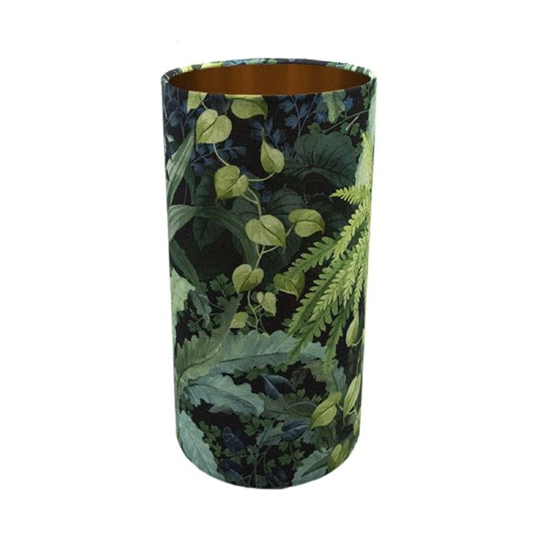 Botanical Tall Drum Lampshade Brushed Copper Inner