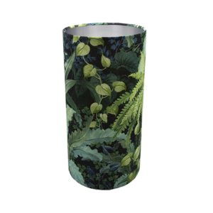 Botanical Tall Drum Lampshade Brushed Silver Inner