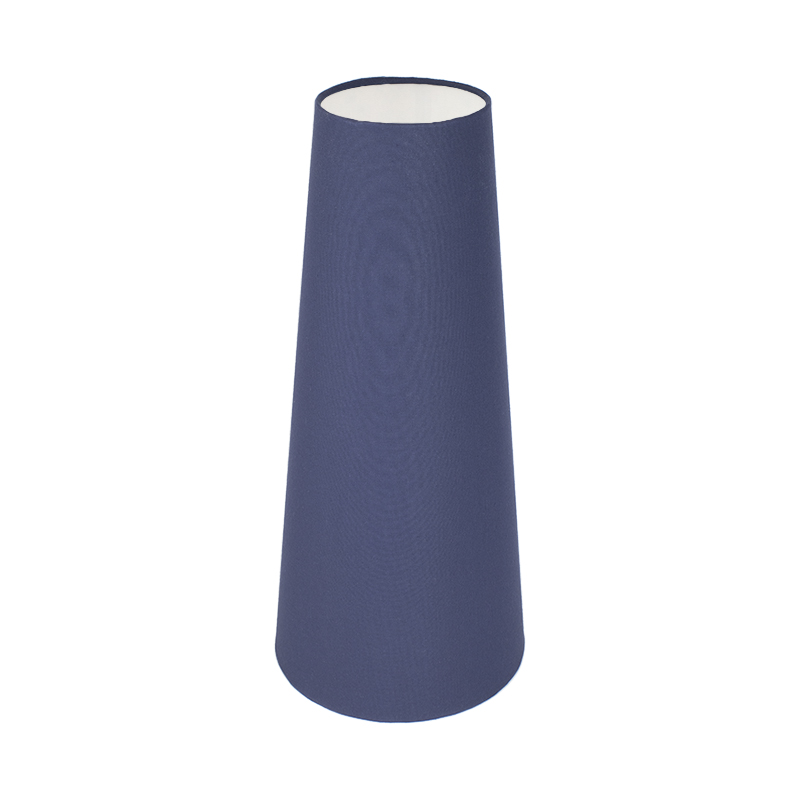 Bright Navy Blue Tall Tapered Lampshade