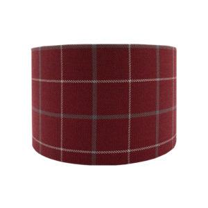 Exford Cherry Tartan Drum Lampshade