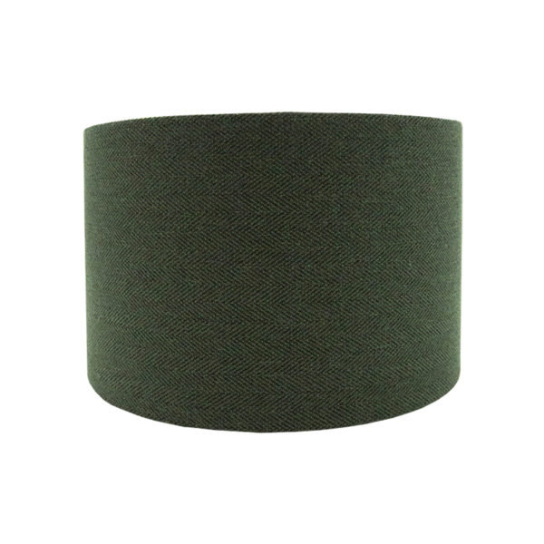 Toad Green Herringbone Drum Lampshade