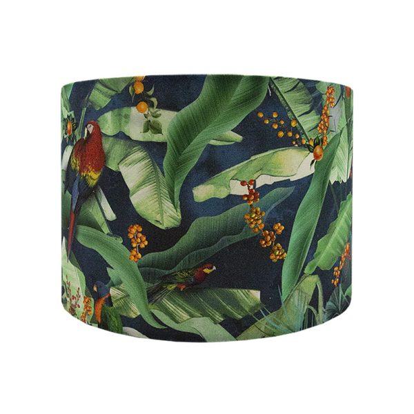 Jungle Parrot Drum Lampshade