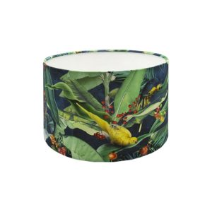 Jungle Parrot Drum Lampshade