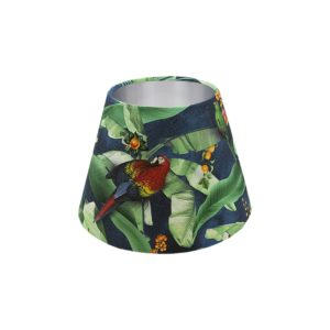 Jungle Parrot Empire Lampshade Silver Inner