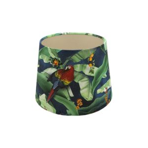 Jungle Parrot French Drum Lampshade Champagne Inner