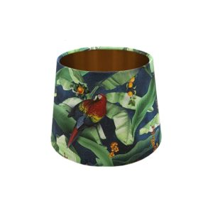 Jungle Parrot French Drum Lampshade Copper Inner