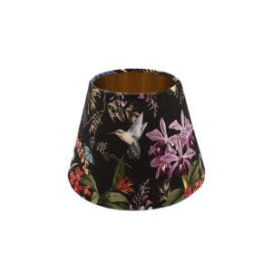 Tropical Floral Velvet Empire Lampshade Copper Inner