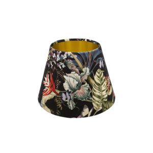 Tropical Floral Velvet Empire Lampshade Gold Inner