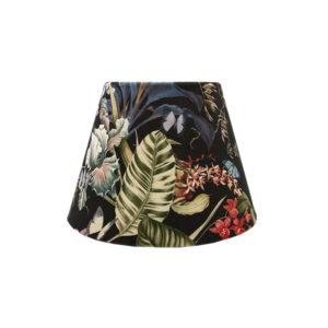 Tropical Floral Velvet Empire Lampshade