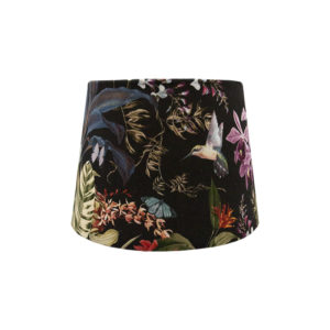 Tropical Floral Velvet French Drum Lampshade
