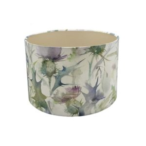 Voyage Cersiun Damson Thistle Floral Drum Lampshade Champagne Inner