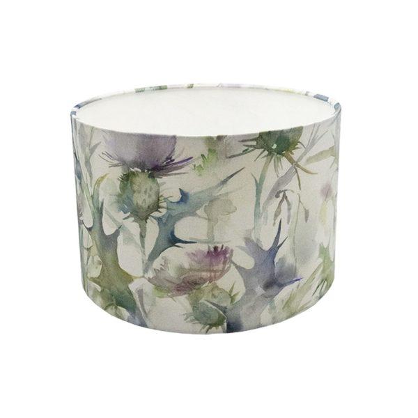 Voyage Cersiun Damson Thistle Floral Drum Lampshade