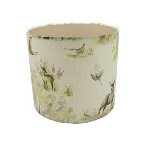 Enchanted Forest Drum Lampshade Champagne Inner
