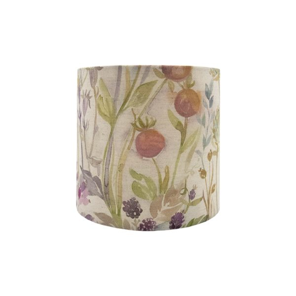 Voyage Hedgerow Pink Floral Drum Lampshade