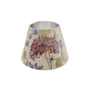 Voyage Hedgerow Pink Empire Lampshade Silver Inner