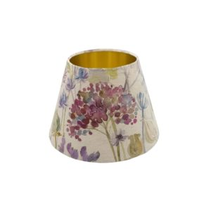 Voyage Hedgerow Pink Empire Lampshade Gold Inner