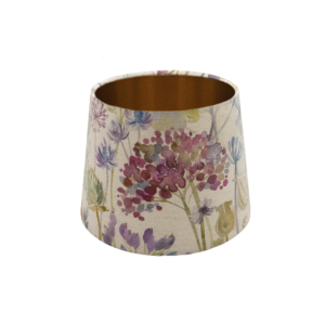 Voyage Hedgerow Pink French Drum Lampshade Copper Inner