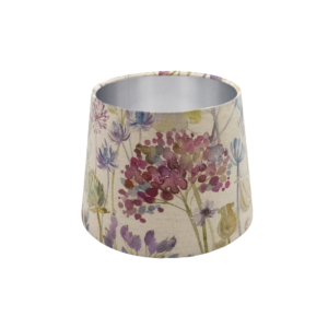 Voyage Hedgerow Pink French Drum Lampshade Silver Inner