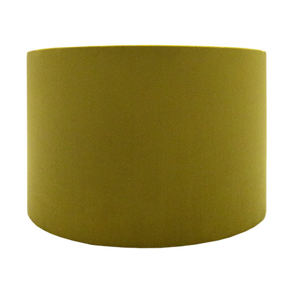 Voyage Mustard Yellow Velvet Drum Lampshade