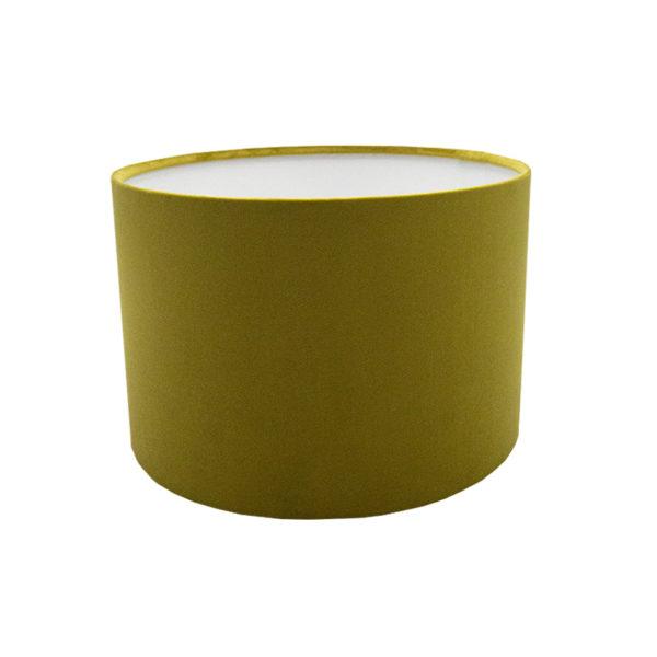 Voyage Mustard Yellow Velvet Drum Lampshade
