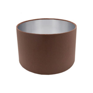Blush Pink Velvet Drum Lampshade Brushed Silver Inner