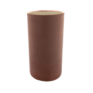 Blush Pink Velvet Tall Drum Lampshade Brushed Champagne Inner
