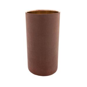 Blush Pink Velvet Tall Drum Lampshade Brushed Copper Inner