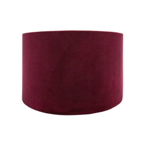 Voyage Red Velvet Drum Lampshade