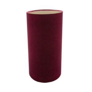 Red Velvet Tall Drum Lampshade Brushed Champagne Inner