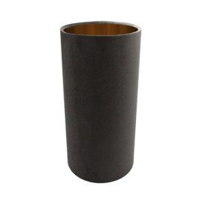 Slate Grey Velvet Tall Drum Lampshade Brushed Copper Inner
