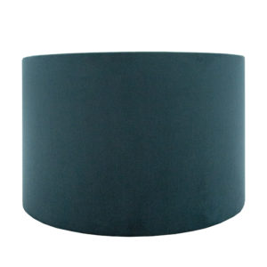 Teal Velvet Drum Lampshade