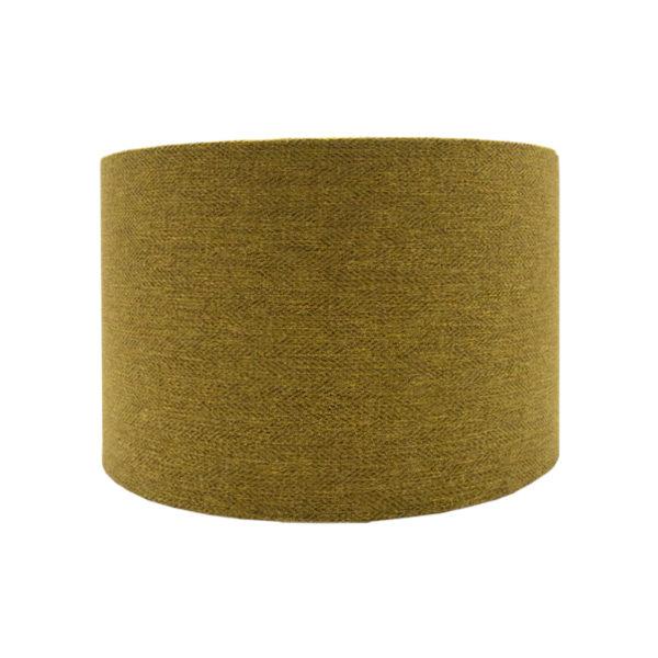 Mustard Yellow Herringbone Drum Lampshade