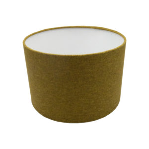 Mustard Yellow Herringbone Drum Lampshade