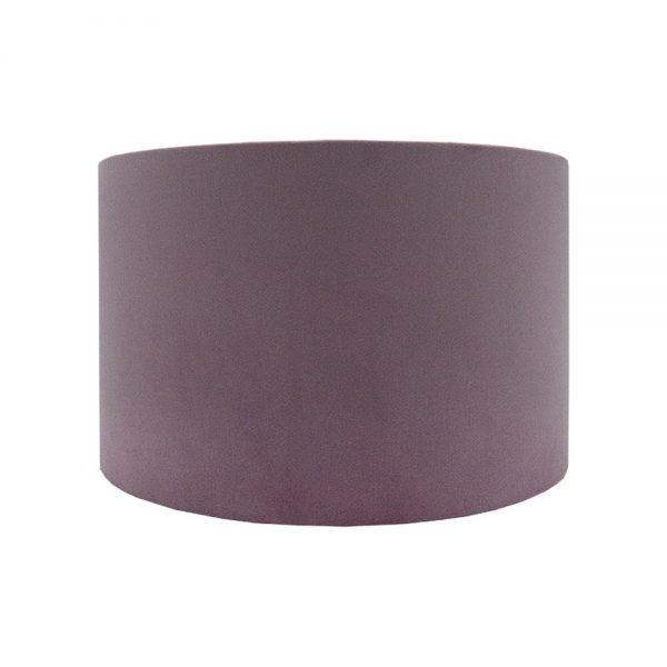 Lavender Velvet Drum Lampshade