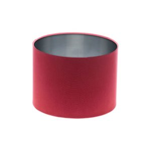Raspberry Red Drum Lampshade Silver Inner