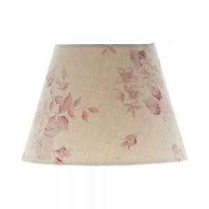 Red Faded Rose Floral Empire Lampshade